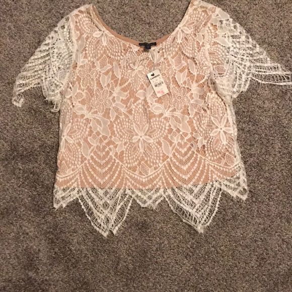Express Tops - Express white lace top